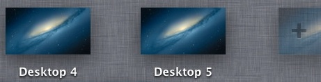 Add New Desktop in Mission Control