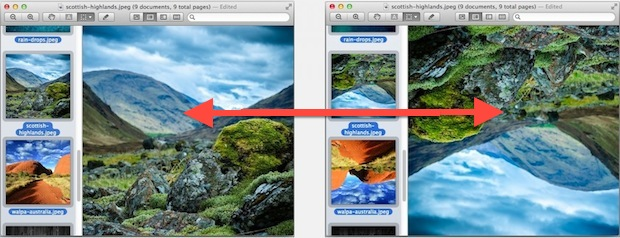 Batch rotating images in Preview app for Mac
