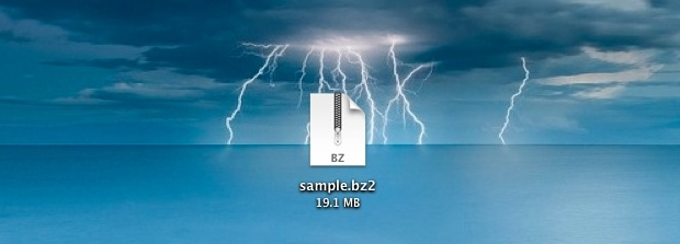 bzip2 archive in Mac OS X