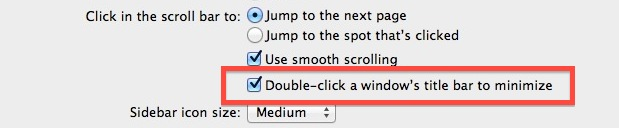 Double Click a Window Title Bar to Minimize it in Mac OS X
