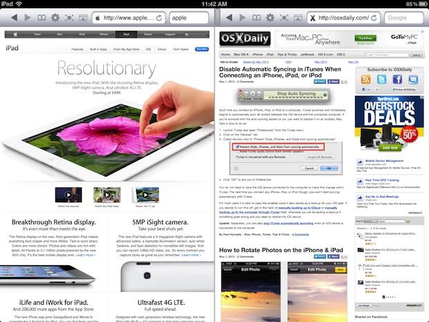 Dual Browser windows on iPad