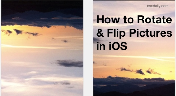 How to rotate and flip pictures in iOS Photos app