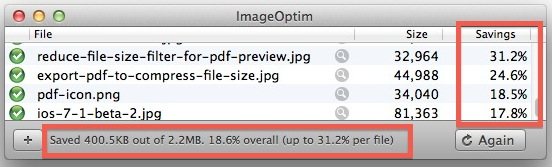 Image compression results