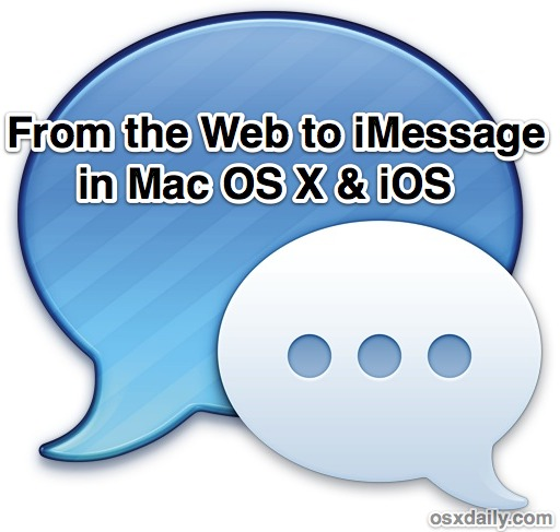 Start an iMessage conversation from the web