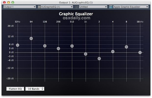 Equalizer for all system audio in Mac OS X