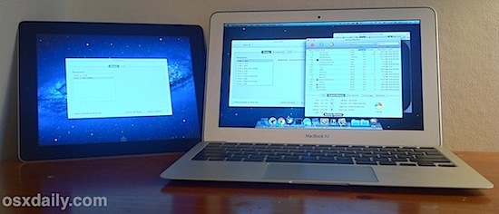 MacBook Air with iPad using AirDisplay