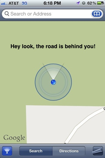 Use Maps app as a compass to find which direction you are facing from an iPhone or iPad