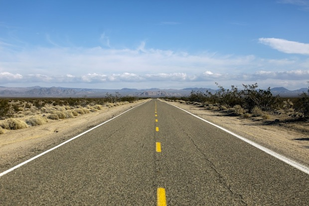 Open road in Death Valley