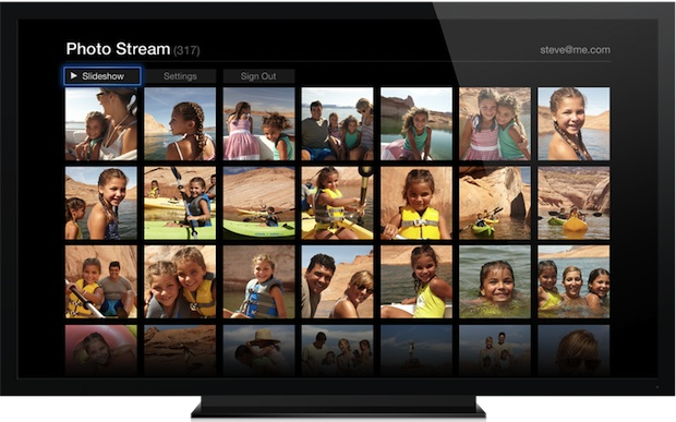 Apple TV slideshow of Photo Stream images