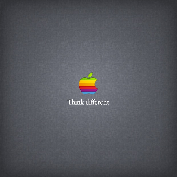 Think Different, retro rainbow Apple wallpaper
