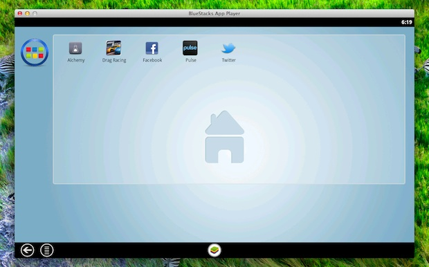BlueStacks runs Android apps in Mac OS X