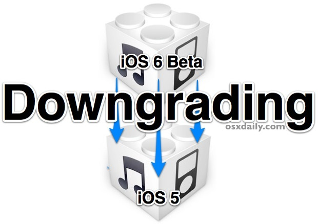Downgrade iOS 6 beta to iOS 5