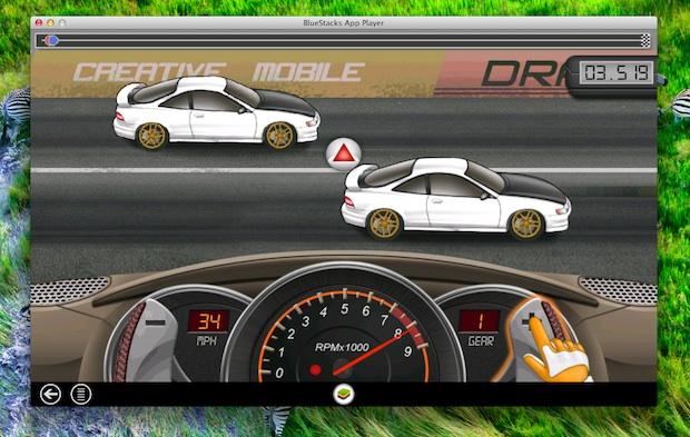 Drag racing Android game in Mac OS X