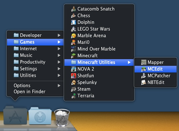 Group Applications by Category and use a sorted app launcher in the Mac OS X Dock