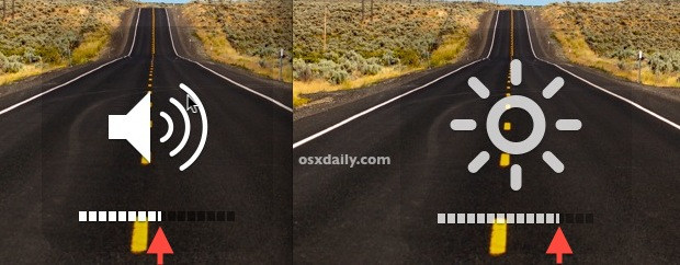 Incremental volume and brightness adjustments in Mac OS X