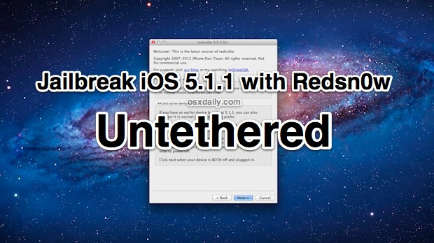 Jailbreak iOS 5.1.1 Untethered with Redsn0w