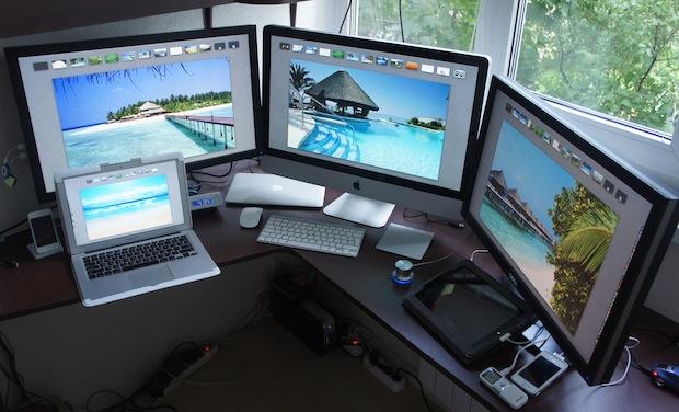 The Mac desk of a medical researcher