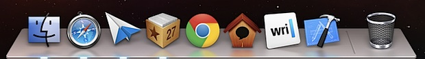 New Mountain Lion Dock look
