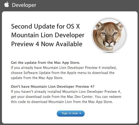 OS X Mountain Lion DP4 Update 2