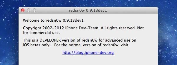 Redsn0w jailbreak for iOS 6 beta