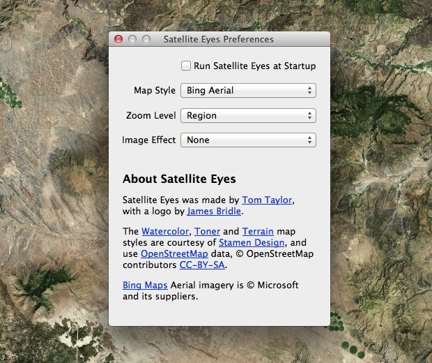 Satellite Eyes preferences