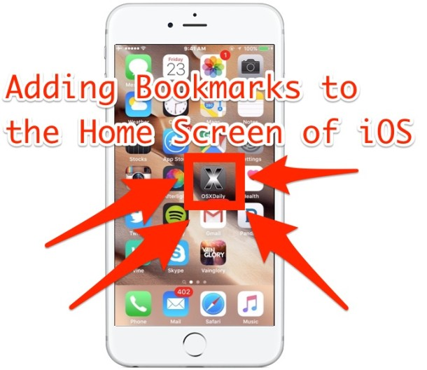 Add a webpage bookmark to the Home Screen of iOS