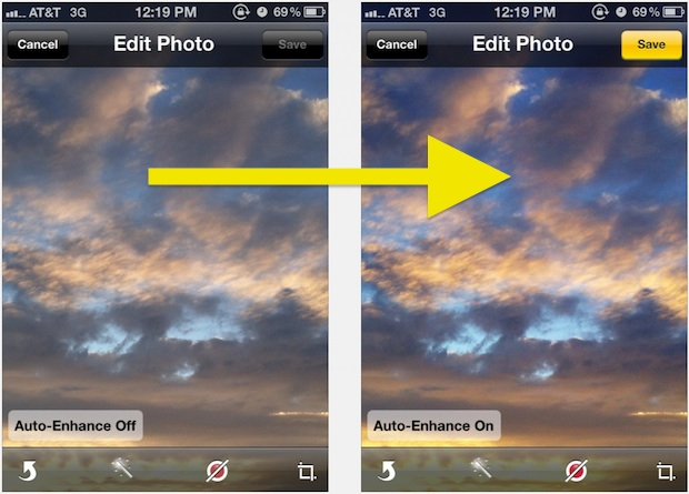 Auto-Enhance makes Photos from iPhone look better