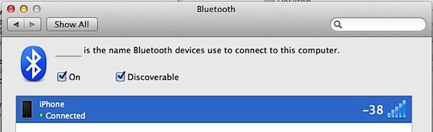 Check Bluetooth Signal Strength in Mac OS X