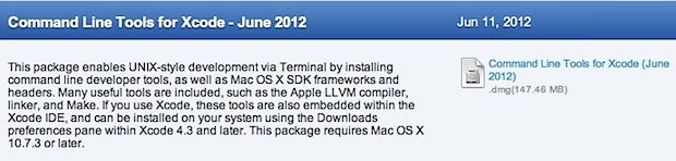 Install GCC without XCode in Mac OS X