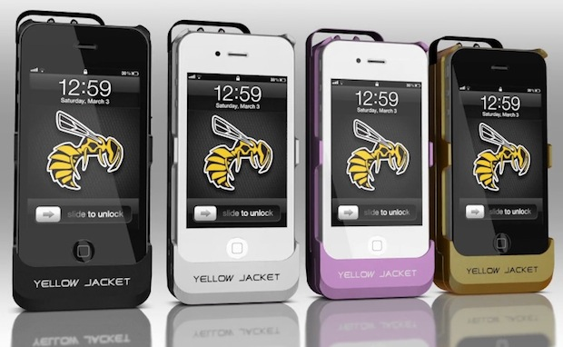 Yellow Jacket is an iPhone stun gun case
