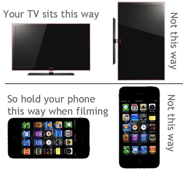 iPhone video recording tip