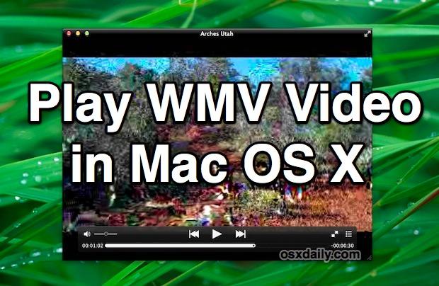 Play WMV Video in Mac OS X