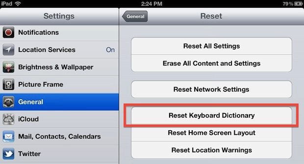 Reset Autocorrect Dictionary in iOS to fix improper word corrections on iPhone and iPad