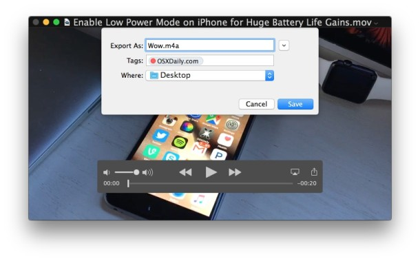 saving-extracted-audio-from-video-mac-quicktime
