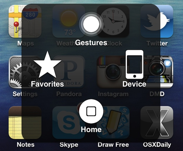 Enable a Software Home Button in iOS if the Home button is broken