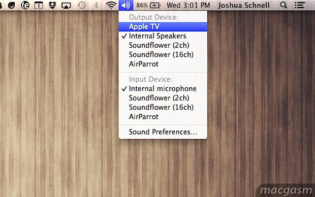 Stream audio from a Mac to AirPlay with OS X Mountain Lion
