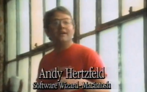 Andy Hertzfeld in 1983 Macintosh Commercial