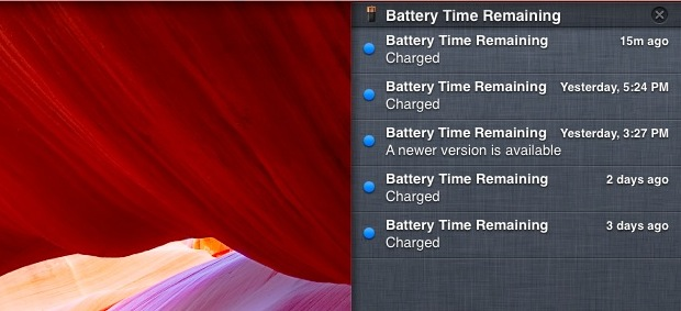 Arrange Notification Center by Time of Alert in Mac OS X