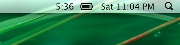Battery Time Indicator in OS X Mountain Lion