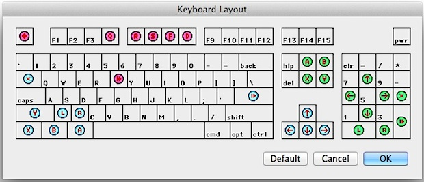 BSNES keyboard controls