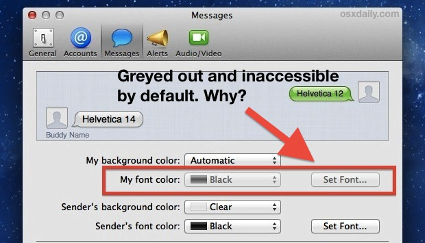 Change the Text Font Size of iMessages in OS X