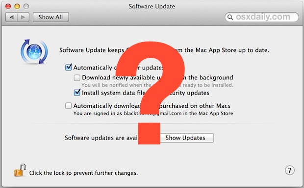 Change Software Update check frequency in OS X