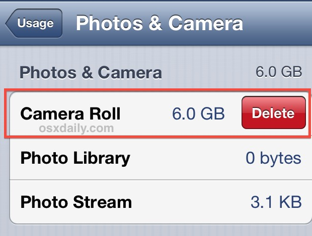 Delete all photos directly from iPhone