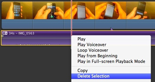 Delete Audio from a Video on the Mac using iMovie
