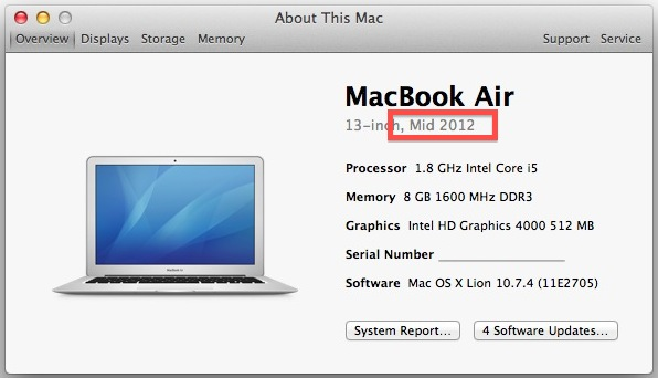 Macbook Year of Manufacture