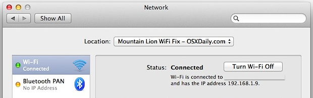 Fix OS X Mountain Lion Wi-Fi Problems