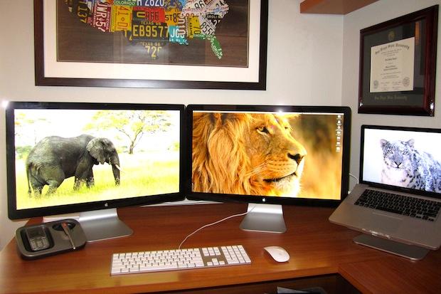 IBM Managers Mac desk setup