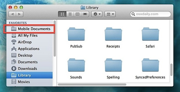 Access iCloud files from the Mac Finder