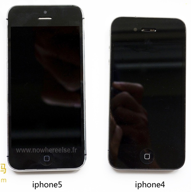 iPhone 5 front vs iPhone 4 front