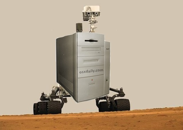 Mars Curiosity Rover is a PowerMac G3 on wheels